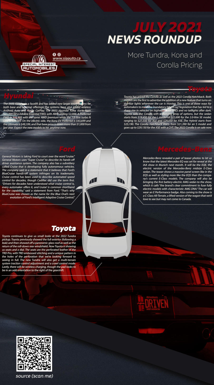 Auto News July 2021 Infographic